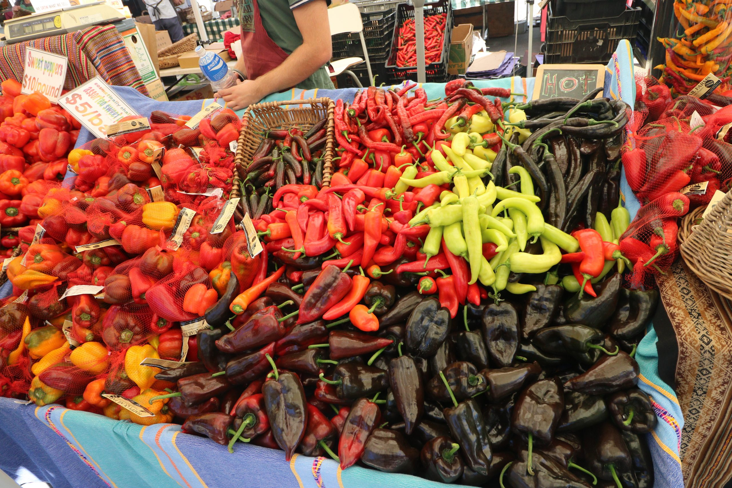 Pepper Stall at Farmers Market, Ferry Building, San Francisco