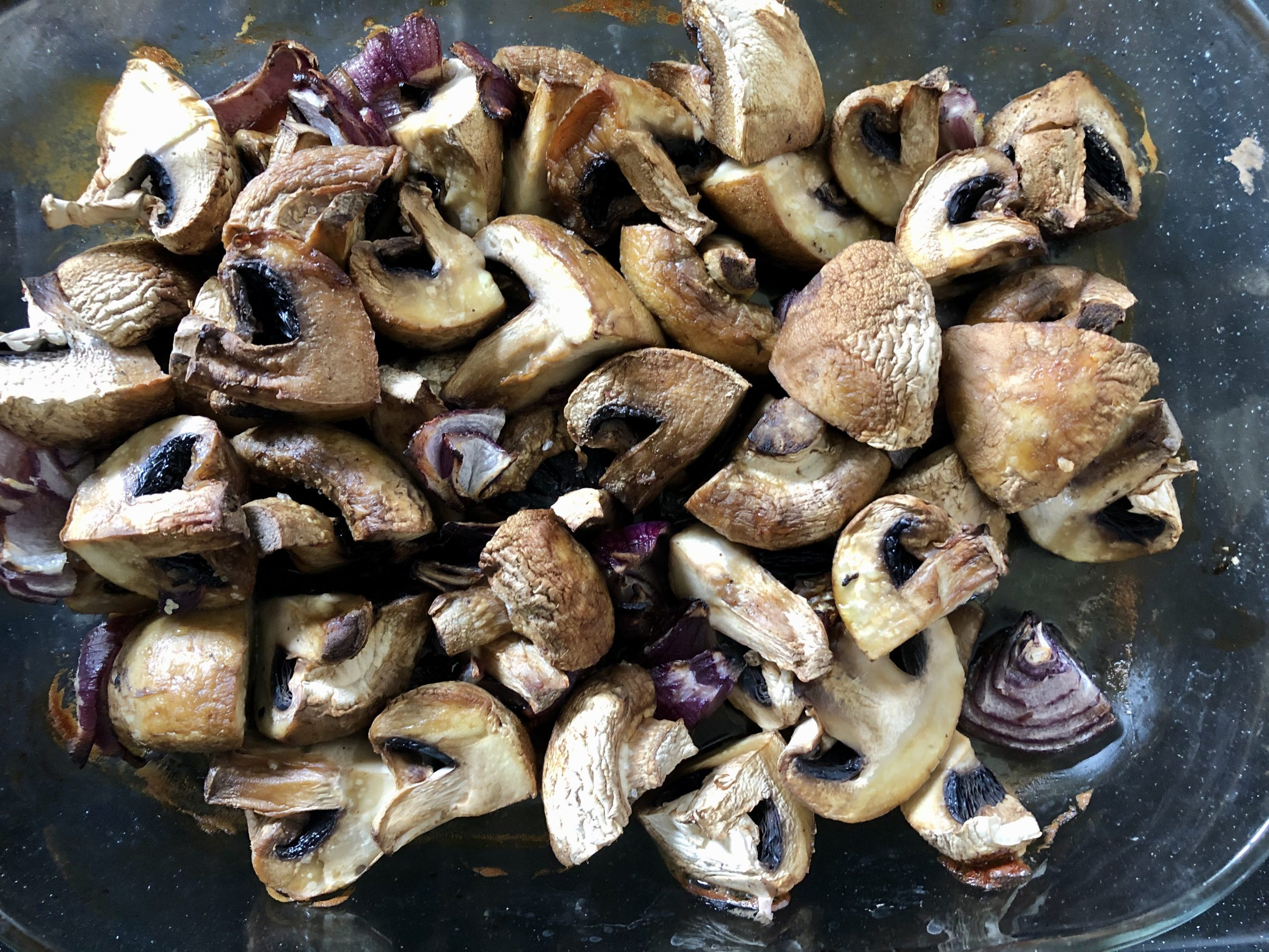 Roast mushrooms in the oven