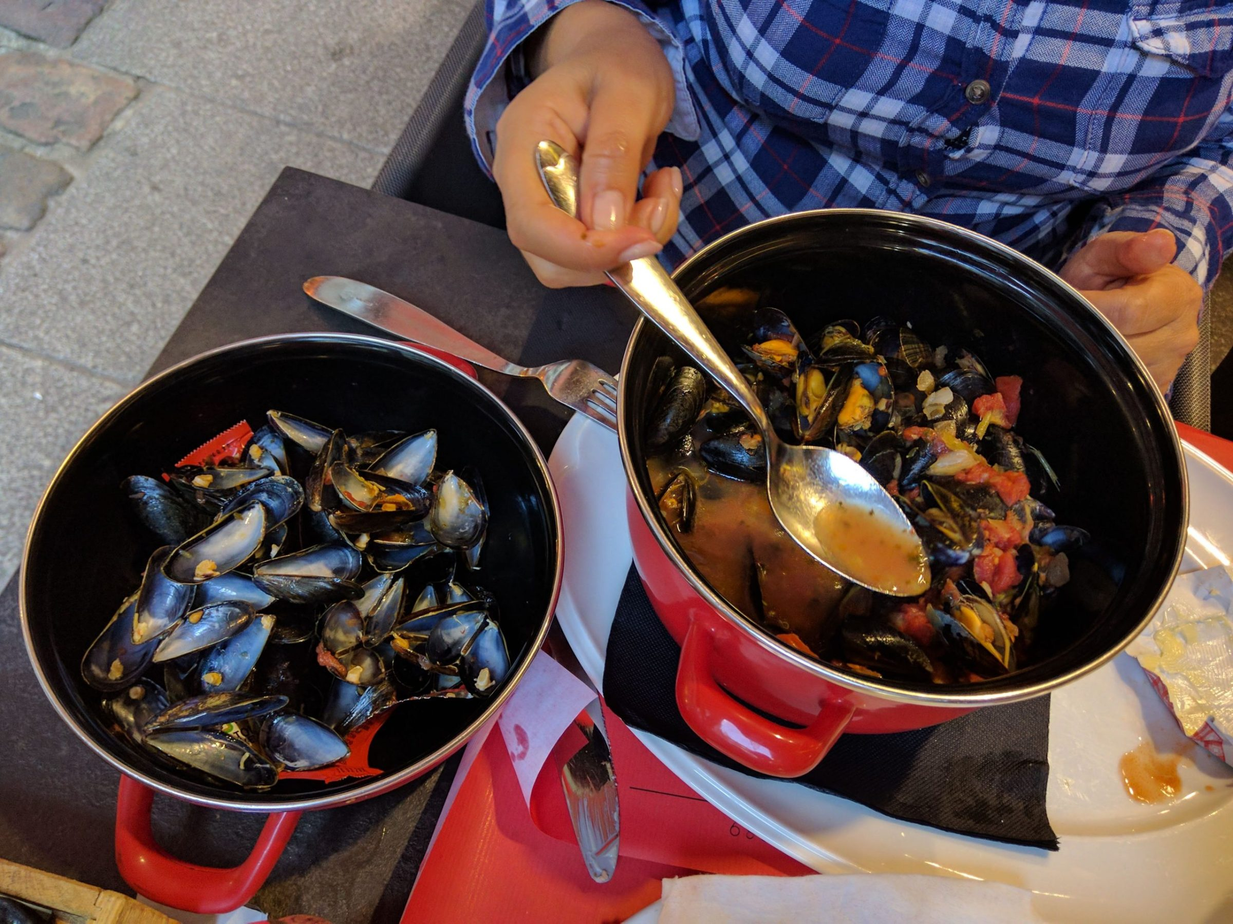 Mussels in Saint-Malo, Brittany, France