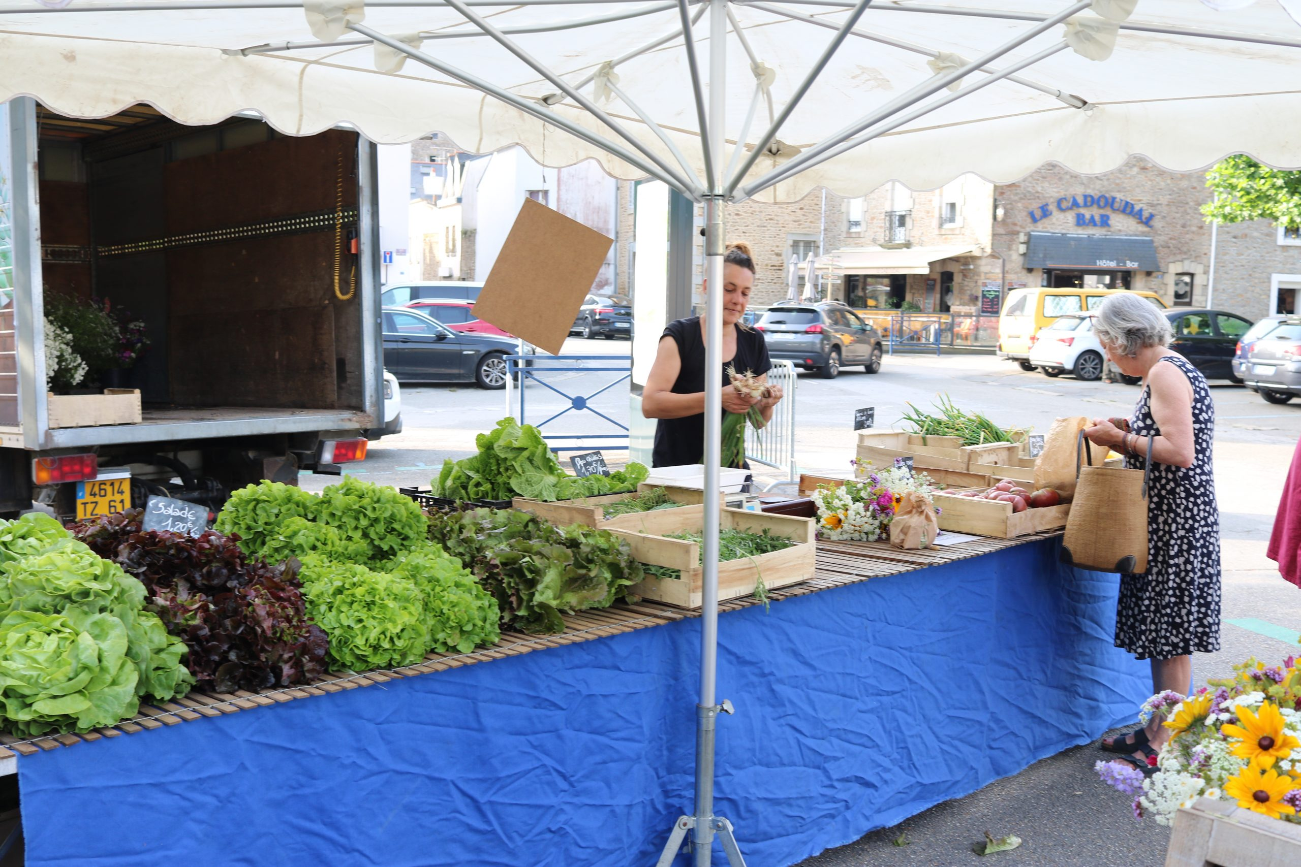 Farmer's market in Auray