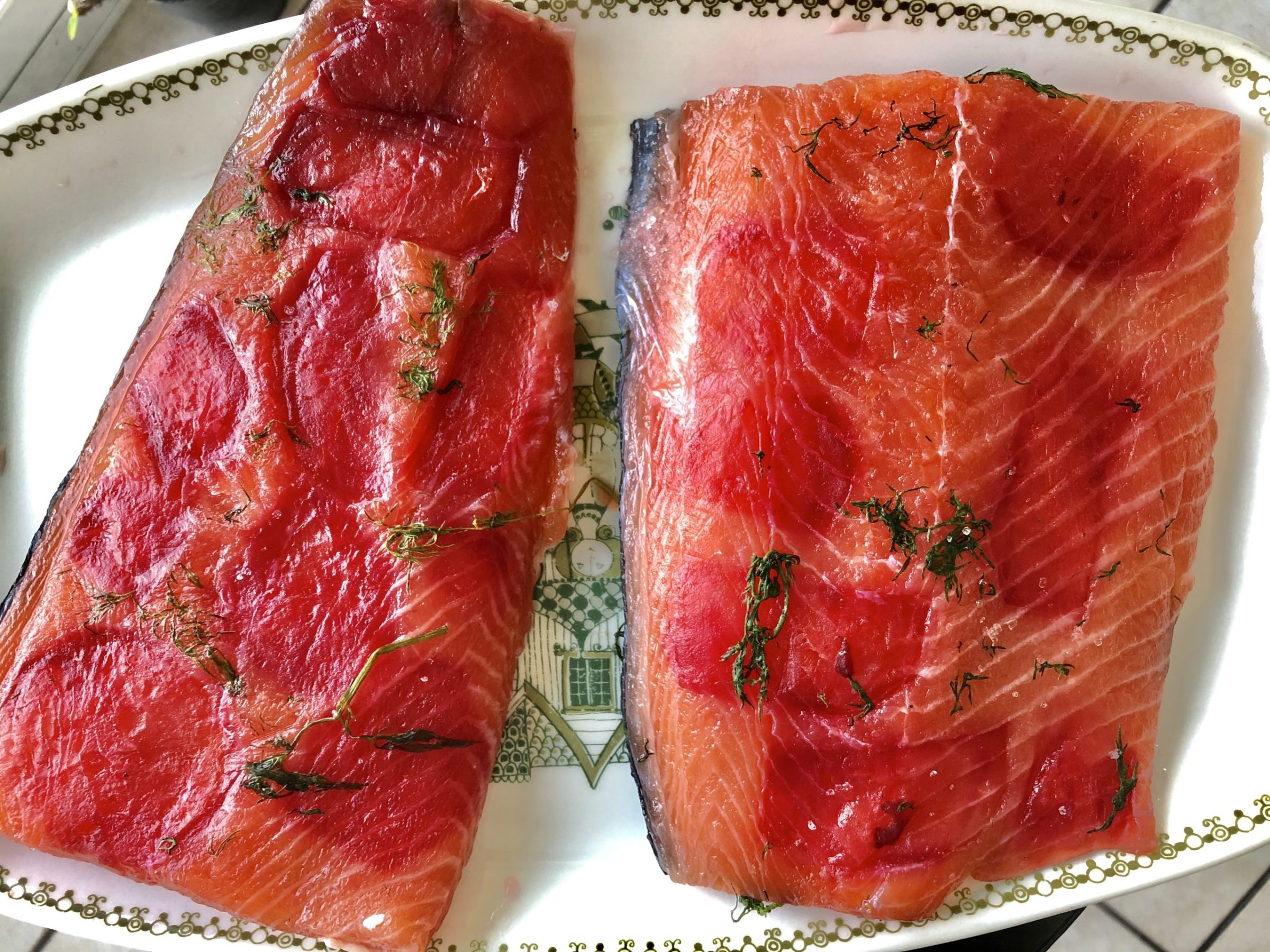 Gravlax with beetroot