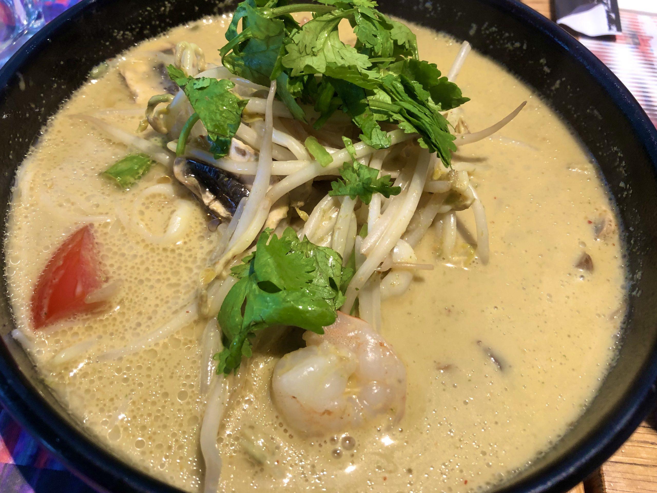 Asian Noodles in Giraffe Restaurant, Haifa