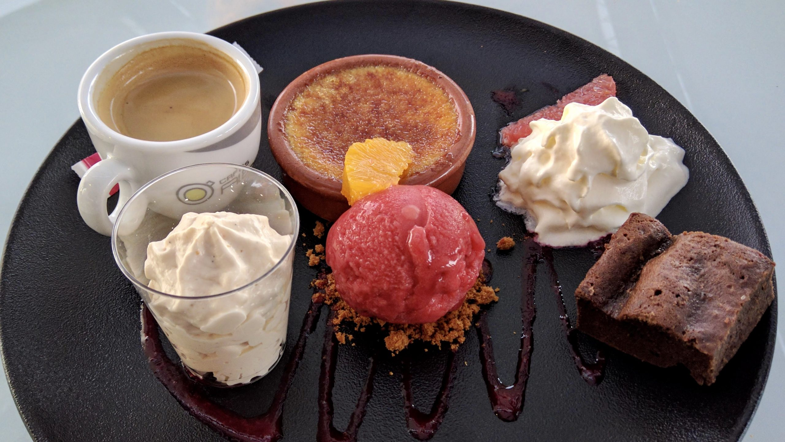 A dessert in small French village