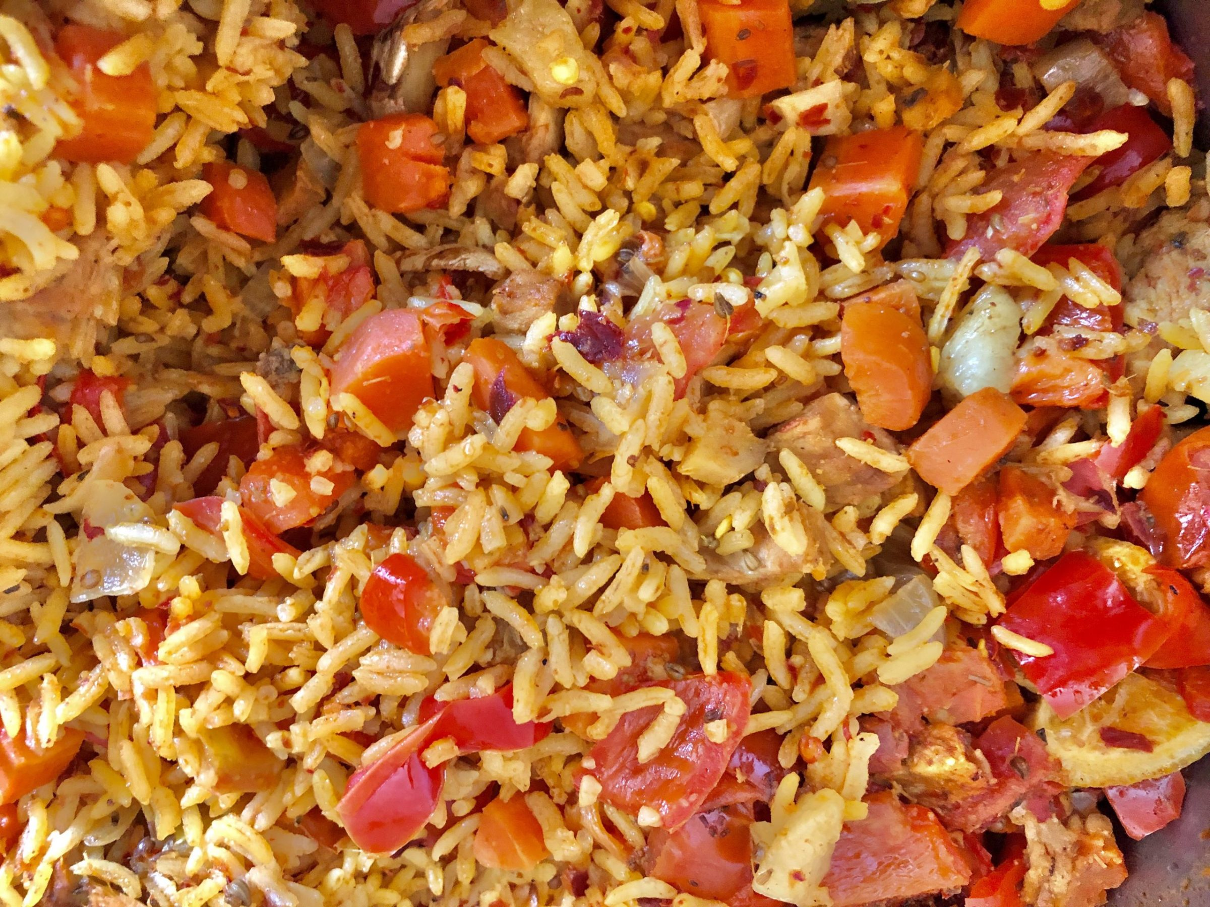 Pilaf with peppers