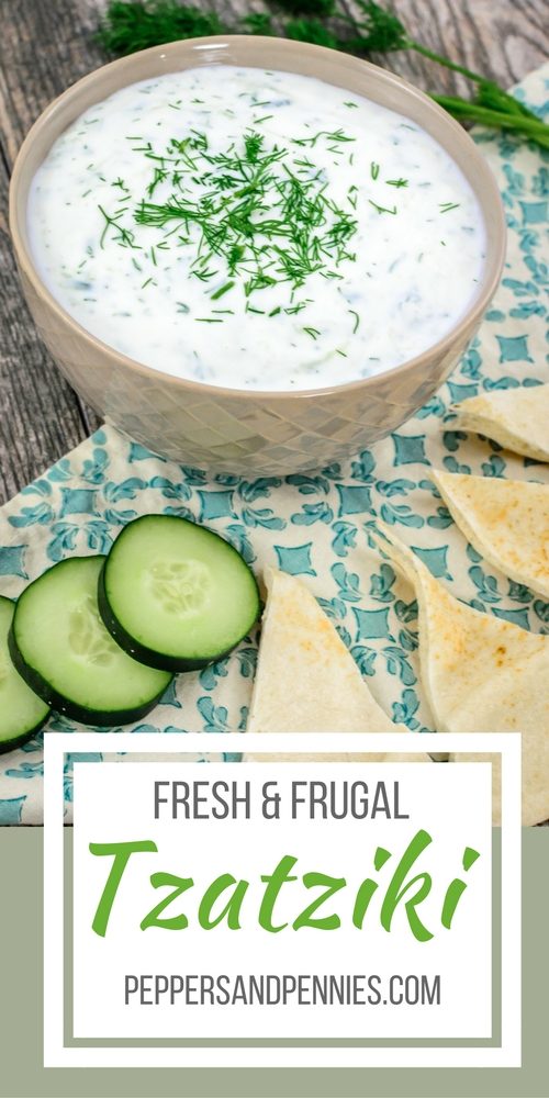 Fresh and Frugal Tzatziki Dip | Peppers & Pennies