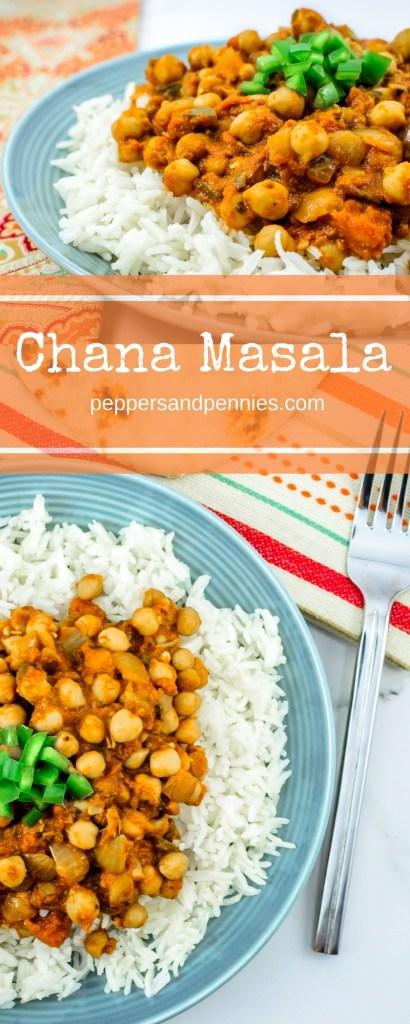 Budget Friendly Chana Masala | Peppers & Pennies