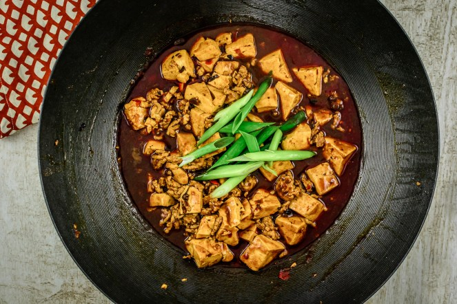Mapo Tofu in Wok from Pheonix Claws and Jade Trees