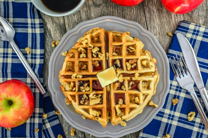 apple-walnut-spice-waffles-peppers-and-pennies