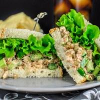 Tuna + Lentil Salad Sandwich