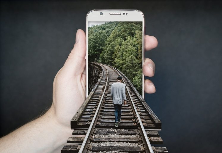 PepperStorm Apps - Smartphone with Train Tracks