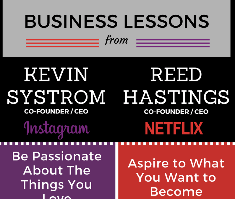 Infographic: Business Lessons from Kevin Systrom and Reed Hastings