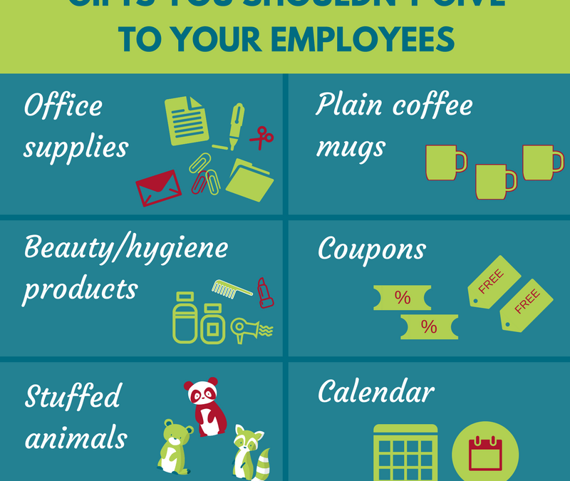 Infographic: Boring and Predictable Presents Not to Give Your Employees/Boss