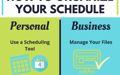 Infographic: How to Organize Your Schedule
