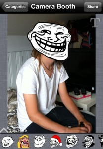 SMS Rage Faces: Camera Booth Example