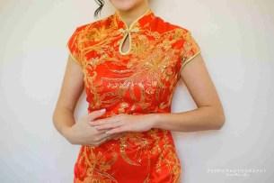 La Novia de vestido rojo