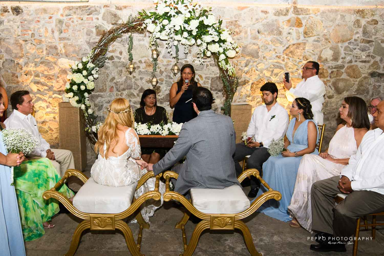 Johanna y Jorge en plena ceremonia