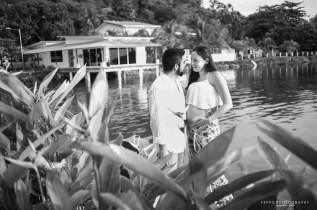 Retrato BNW de Shana y Ricardo