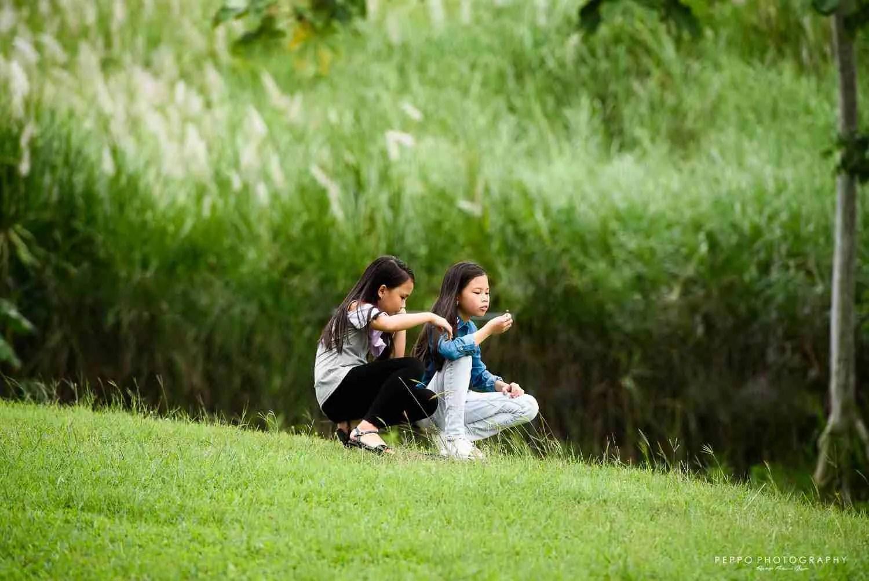 Retratos de Gemelas al aire libre