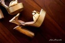 Golden Heeled Sandals