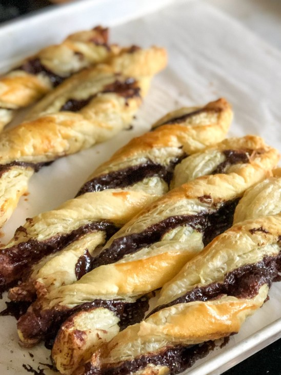 Finished inidan spiced chocolate twists
