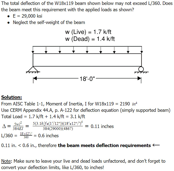Beam Deflection Examples - PE Preparation