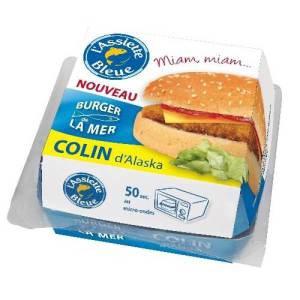 Hamburgers de la mer de l'Assiette Bleue