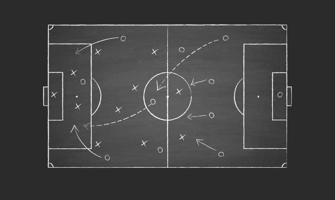 stratégie - terrain de foot