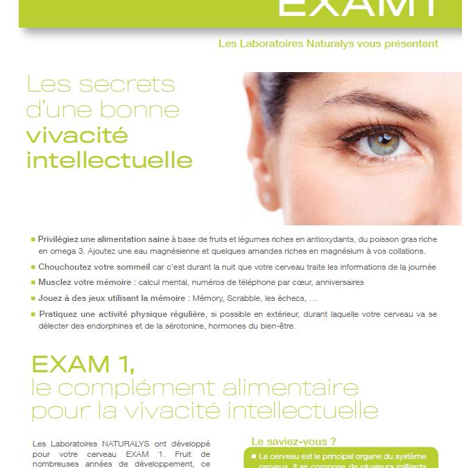 Fiche produit – Exam 1 – Laboratoire Naturalys