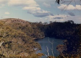 The crater lake at Tower Hill.