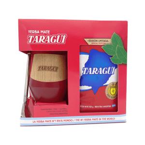 Taragui mate set wood