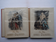 Capas dos dois volumes de La Vie des Dames Galantes, de Brantôme, ilustrado por Paul-Émile Bécat. Edição Athéna, 1948
