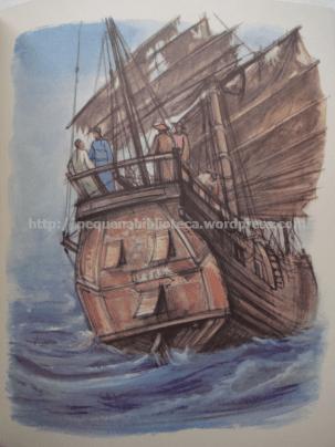Ilustração de André Collot para Atribulações de um Chinês na China de Júlio Verne. Edição Maurice Gonon.