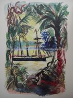 Ilustração de André Planson para Os Filhos do Capitão Grant, de Júlio Verne. Edição Maurice Gonon.