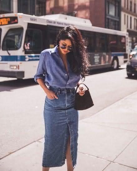 Modelos de saias lojas em jeans 2022
