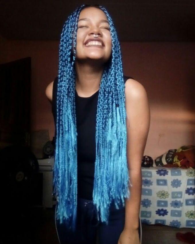 Box Braids azul