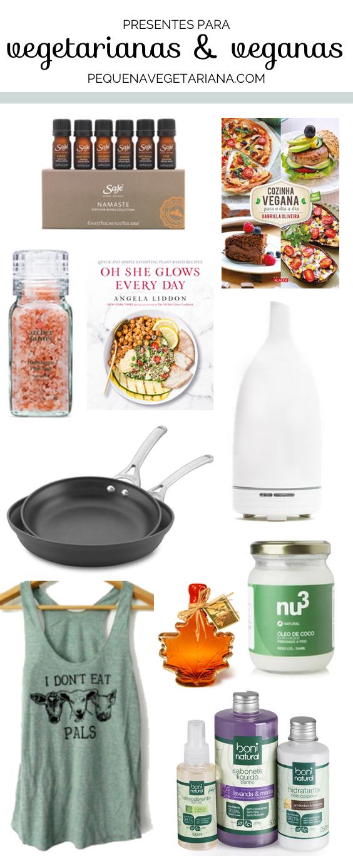 Ideias de presentes para vegetarianas e veganas