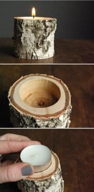 velas madeira