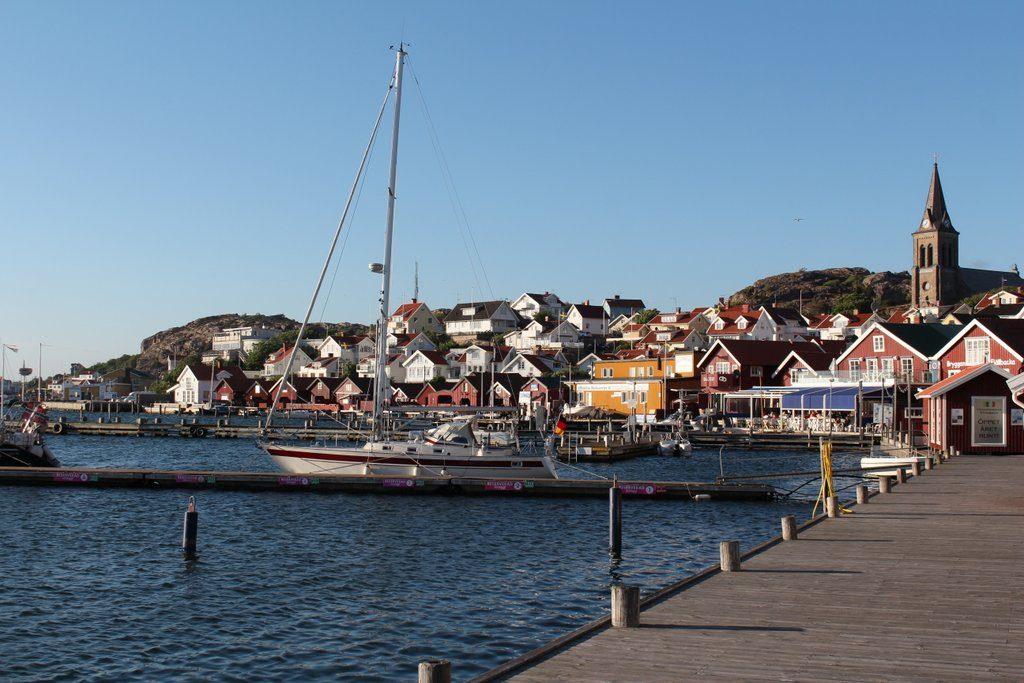 Helt innerst til høyre er vår reserrte Dockspot-plass. Som den eneste...