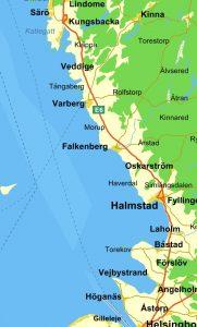 Kjedelig svensk kystlinje...