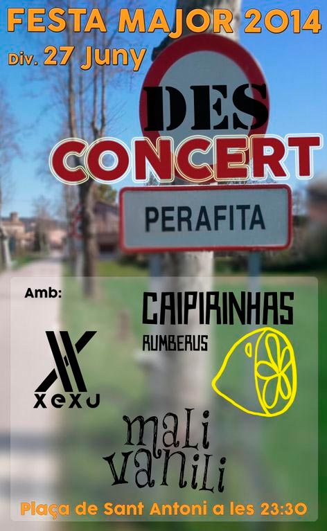 cartell desconcert 2014