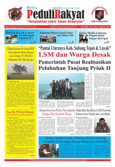 Koran Subang Peduli Rakyat Edisi 127