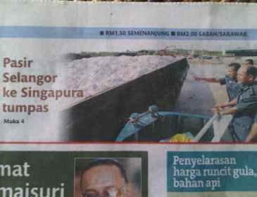 Pasir Selangor ke Singapura tumpas