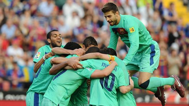 Barcelona win Liga title at Levante