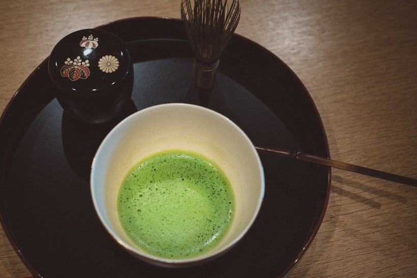 Japanese Tea ceremony with bowl of matcha
