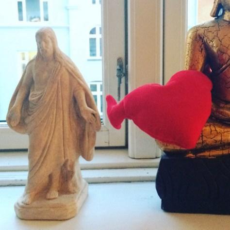 Mit spirituelle fundament med Buddha og Jesus
