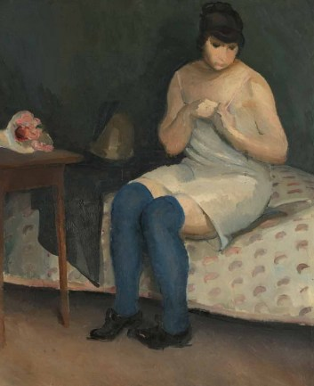 Djevojka u modrim čarapama, 1912.