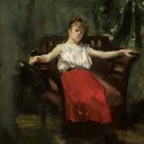 Djevojka u naslonjaču - Zlata Kolarić Kišur, 1911.