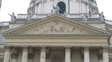 Karlskirche - pročelje, detalj