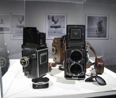 Dvooki fotoaparati Rolleiflex s objektivom Planar i Sonnar, i širokokutni dvooki Rolleiflex s objektivom Distagon