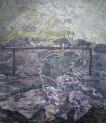 Ivona Jurić - Susret unutarnjeg i vanjskog svijeta (krevet), 2013.